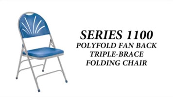 National Public Seating 1100 Series Folding Chair