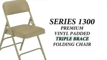 National Public Seating 1300 Series Folding Chair