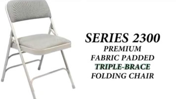 National Public Seating 2300 Series Folding Chair