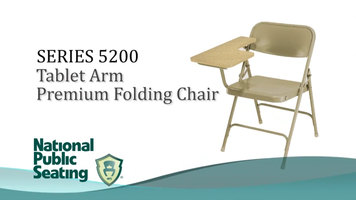 National Public Seating 5200 Series Tablet Arm Folding Chair