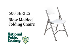 National Public Seating 600 Series Blow Molded Folding Chair
