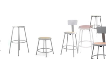 National Public Seating 6200 Series Round Lab Stool