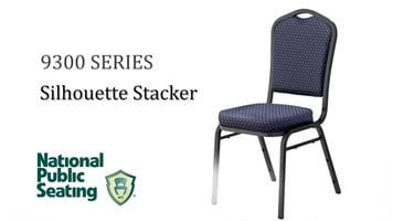 National Public Seating 9300 Silhouette Stacking Chair