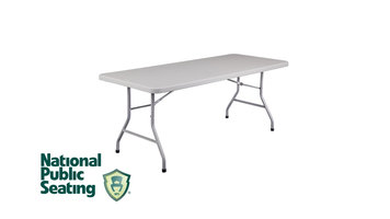 National Public Seating Plastic Folding Table