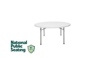 National Public Seating Round Plastic Folding Table