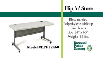National Public Seating Flip 'n Store Table