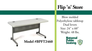 National Public Seating Flip Top Tables