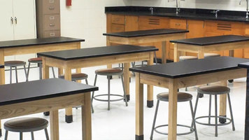 National Public Seating Phenolic Top Science Tables