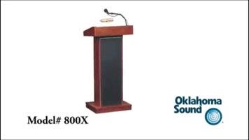Oklahoma Sound 800X Orator Lectern