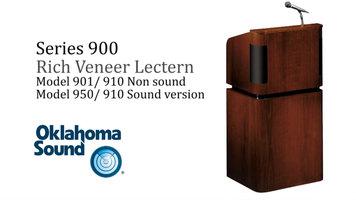 Oklahoma Sound 900 Series Veneer Lectern
