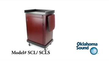 Oklahoma Sound Smart Cart Lectern with Sound