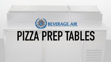 Beverage Air Pizza Prep Tables