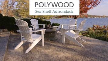 Polywood Sea Shell Adirondack Chair