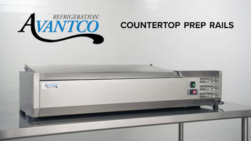 Avantco Refrigerated Countertop Prep Rails