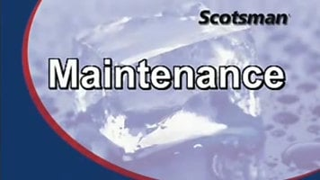 Scotsman Prodigy Ice Cuber Maintenance