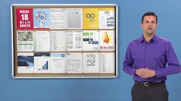 Quartet Indoor Enclosed Bulletin Boards