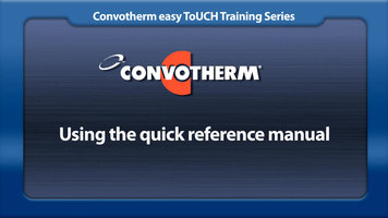 Cleveland Convotherm: Quick Reference Manual