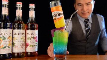 Rainbow Jenga Cocktail by Monin
