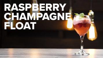 Raspberry Champagne Float
