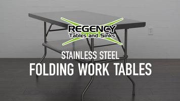 Regency Stainless Steel Folding Work Tables