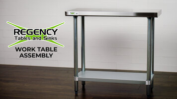 Regency Stainless Steel Work Table Assembly