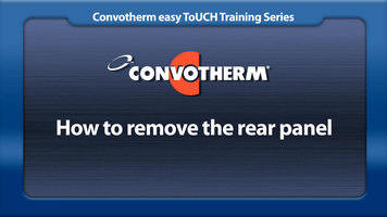 Cleveland Convotherm: Removing the Rear Panel