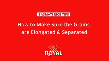 Basmati Rice: How to Separate Grains