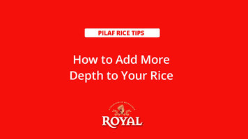 Pilaf Rice: How to Add Depth