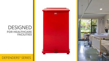 Rubbermaid Defender Series Trash Receptacles