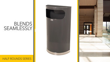 Rubbermaid Half Round Waste Receptacles