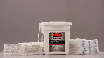 Rubbermaid Hygen Disposable Microfiber Cloth System