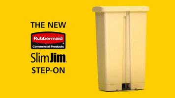 Rubbermaid Slim Jim Step-On Trash Cans