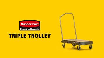 Rubbermaid Triple Trolley Cart