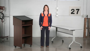 Safco Tabletop Lectern and Media Cart