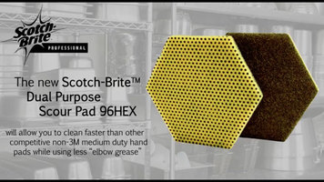 Scotch Brite™ Dual Purpose Scour Pad 96HEX: Performance