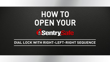 Sentry Safe: How to Open a Right-Left-Right Sequence Dial Lock