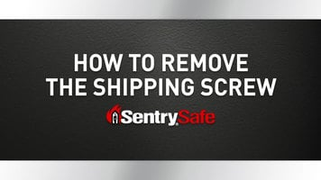 Sentry Safe: How to Remove the Shipping Screw