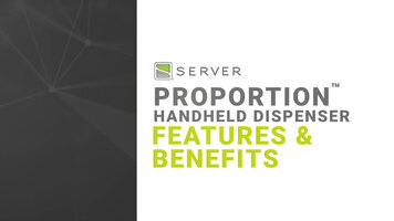 Features and Benefits of Server's ProPortion Handheld Dispenser