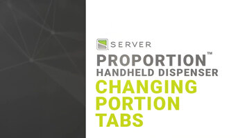 How to Change Portion Tabs of Server's ProPortion Handheld Dispenser