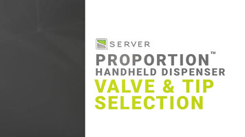 Selecting the Correct Model and Valve of Server's ProPortion Handheld Dispenser
