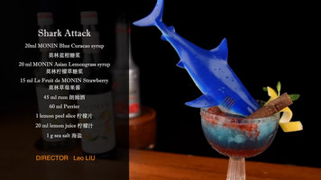 Shark Attack Cocktail by Monin
