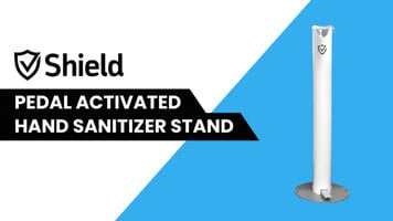 Controltek Shield Pedal Activated Hand Sanitizer Stand