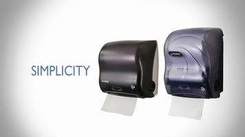 San Jamar Simplicity Mechanical Hands Free Towel Dispenser