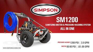 Simpson SM1200 Sanitizing Mister and Pressure Washer