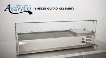 Avantco Prep Rail: Sneeze Guard Assembly
