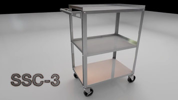 Luxor SSC-3 Stainless Steel Utility Cart