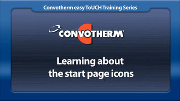 Cleveland Convotherm: Start Page Icons