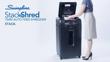 Swingline Stack and Shred 750M Auto Feed Shredder