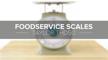 Taylor THD50 Heavy Duty Portion and Receiving Scale