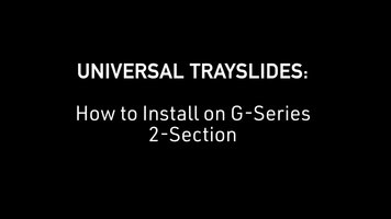 Traulsen: How to Install Universal Trayslides on G Series 2-Section